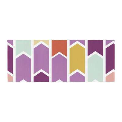 Pellerina Design Orchid Geometric Chevron Arrows Bed Runner