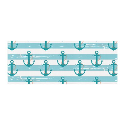 Afe Images Nautical Anchor Pattern Illustration Bed Runner