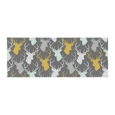 Pellerina Design Scattered Deer Bed Runner Color: Gray