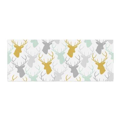 Pellerina Design Scattered Deer Bed Runner Color: White