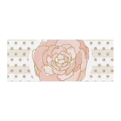 Pellerina Design Watercolor Peony Floral Bed Runner