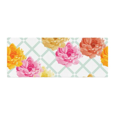 Pellerina Design Trellis Peonies Flowers Bed Runner