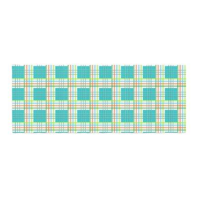 Afe Images Modern Plaid Pattern Illustration Bed Runner