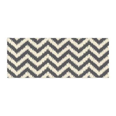 Amanda Lane Moonrise Chevron ikat Bed Runner
