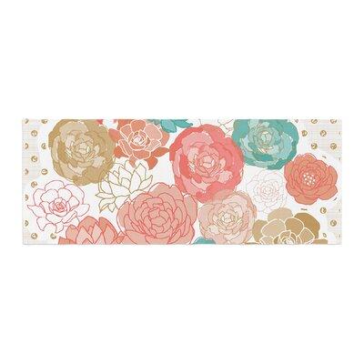Pellerina Design Spring Florals Peony Bed Runner