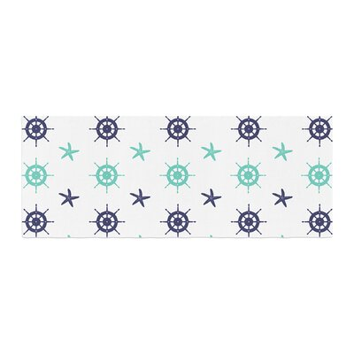 Afe Images Helm Wheel and Starfish Illustration Bed Runner