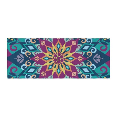 Amanda Lane Blooming Mandala Bed Runner