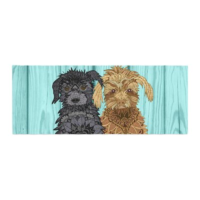 Art Love Passion Daisy and Gatsby Abstract Puppies Bed Runner