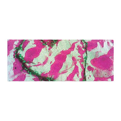 Anne LaBrie Tiger Love Bed Runner Color: Pink/Green