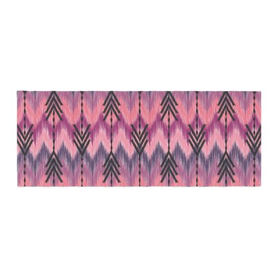 Amanda Lane Indigo Orchid Chevron Arrows Bed Runner