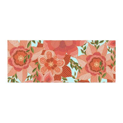 Art Love Passion Flower Power Floral Bed Runner