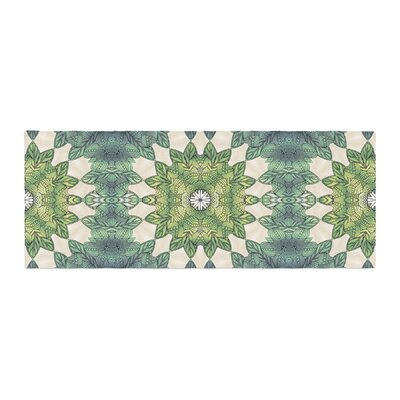 Art Love Passion Forest Leaves Repeat Geometric Bed Runner
