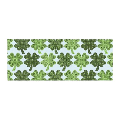 Art Love Passion Lucky You Shamrock Bed Runner