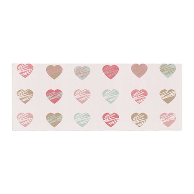 Afe Images Hearts Pattern Illustration Bed Runner