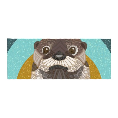 Art Love Passion Otter in Water Bed Runner