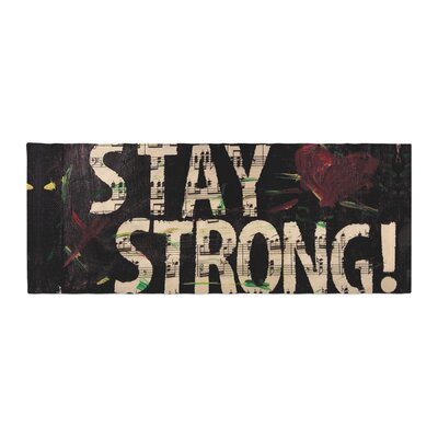 Alexa Nicole Stay Strong Bed Runner