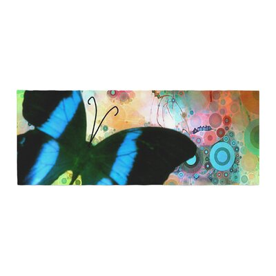 AlyZen Moonshadow Colorful Butterfly Bed Runner