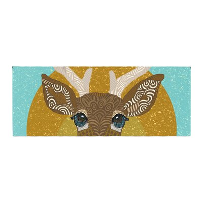 Art Love Passion Stag in Grass Bed Runner