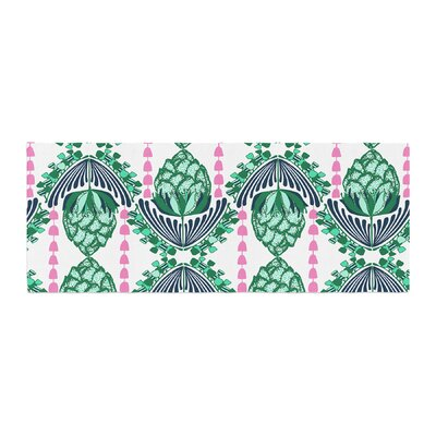 Amy Reber Tassles Line Illustration Bed Runner