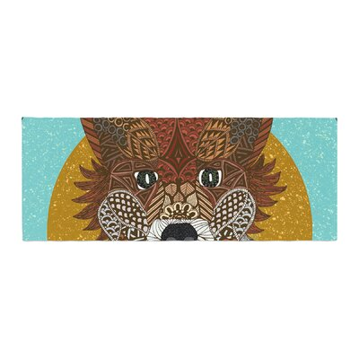 Art Love Passion Colored Fox Bed Runner