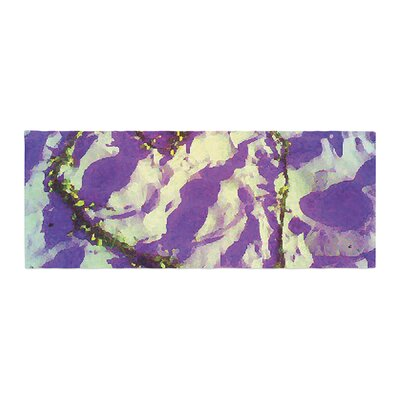 Anne LaBrie Tiger Love Bed Runner Color: Purple/Yellow