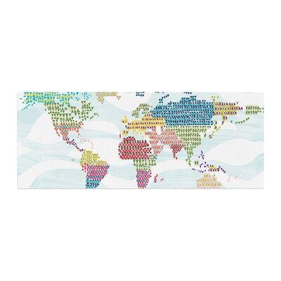 Agnes Schugardt Geo Map Abstract Bed Runner