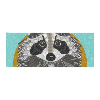 Art Love Passion Racoon in Grass Bed Runner