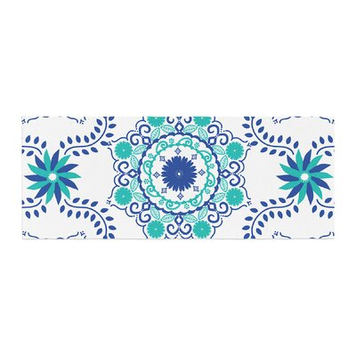Anneline Sophia Lets Dance Floral Bed Runner Color: Blue