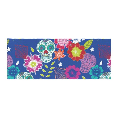 Anneline Sophia Day of the Dead Aztec Bed Runner