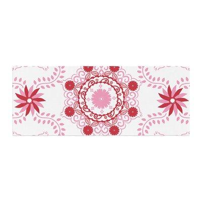 Anneline Sophia Lets Dance Floral Bed Runner Color: Red