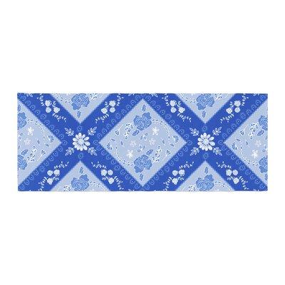 Anneline Sophia Diamonds Bed Runner Color: Blue/Aqua