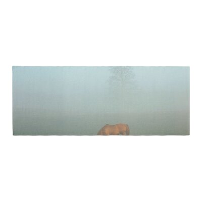 Angie Turner Horse in Fog Bed Runner