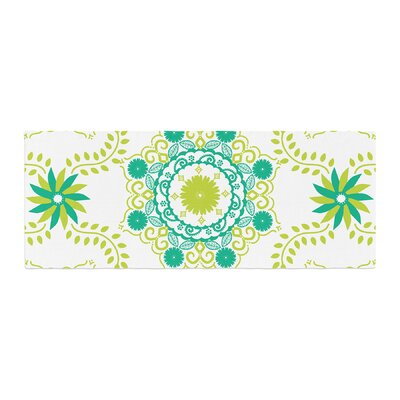 Anneline Sophia Lets Dance Floral Bed Runner Color: Green