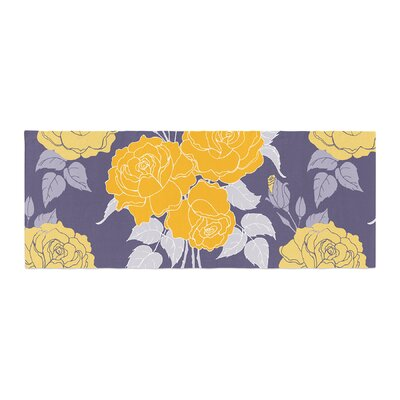 Anneline Sophia Summer Rose Bed Runner Color: Yellow/Purple/Lavender