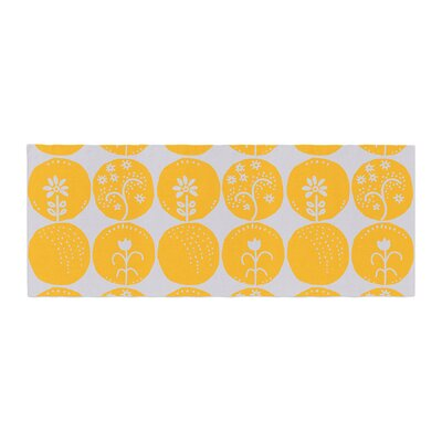 Anneline Sophia Dotty Papercut Circles Bed Runner Color: Yellow