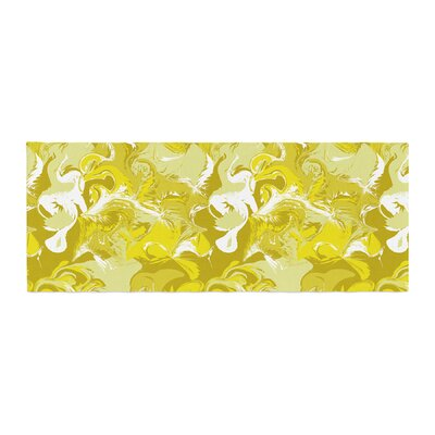 Anneline Sophia Marbleized Bed Runner Color: Gold/Yellow