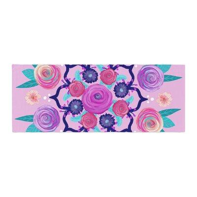 Anneline Sophia Expressive Blooms Mandala Floral Bed Runner