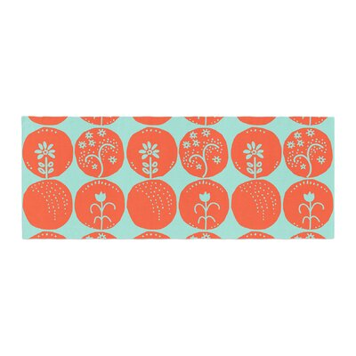 Anneline Sophia Dotty Papercut Circles Bed Runner Color: Orange