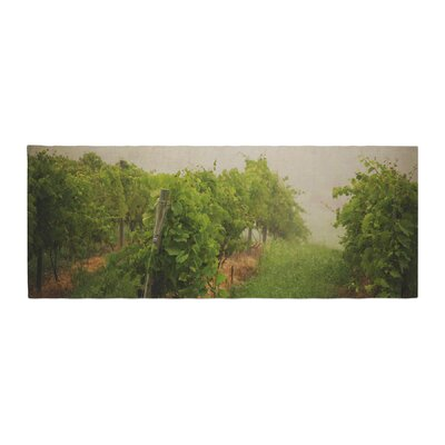 Angie Turner Grape Vines Foggy Bed Runner