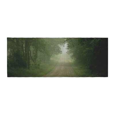 Angie Turner Foggy Road Forest Bed Runner