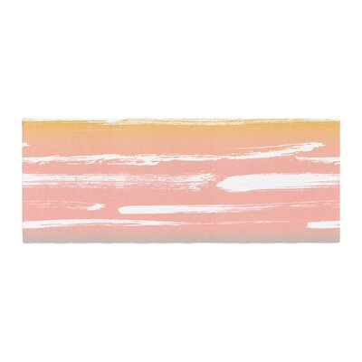 Anneline Sophia Painted Stripes Bed Runner Color: Peach/Pink