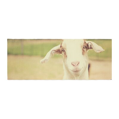 Angie Turner Happy Goat Smiling Animal Bed Runner