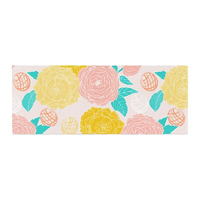 Anneline Sophia Peonies Bed Runner Color: Yellow