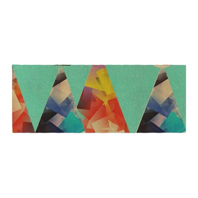 Bri Buckley Rainbow Peaks Triangles Bed Runner