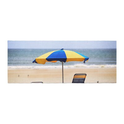 Angie Turner Umbrella Coastal Photography Bed Runner