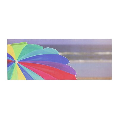 Angie Turner Beach Umbrella Coastal Photography Bed Runner