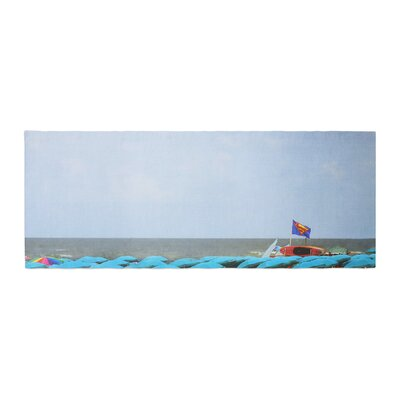 Angie Turner Superman at the Beach Bed Runner