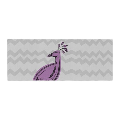 Brienne Jepkema Peacock Bed Runner Color: Purple