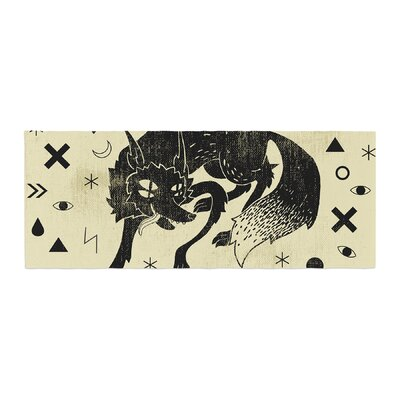 Anya Volk Wolf Illustration Bed Runner