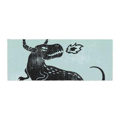Anya Volk Fire Monster Illustration Bed Runner